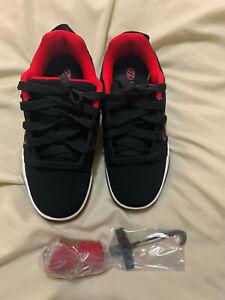 Heelys Voyager Black/Red Skate Shoe Size 7M