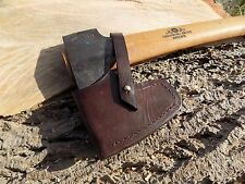HAND-MADE BROWN LEATHER SHEATHS  GRANSFORS BRUKS  WILDLIFE AXE  Brown