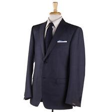 NWT $1595 Z ZEGNA 'City' Dark Slate Blue Wool-Mohair Suit 40 L (Eu 50)