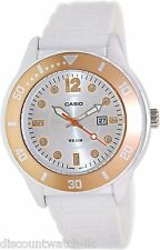 Casio LTP1330-4A2 Ladies White Resin Casual Fashion Sports Watch Bezel 50M New