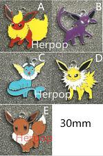 20pcs Pokemon Enamel Metal necklace earrings Charms DIY Jewelry Making Pendants