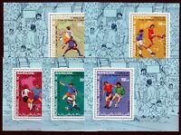 Mauretanien 1990 Mi. 962-66 ** DELUXE Blocks Fußball-WM 1990