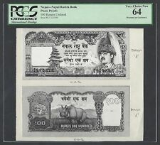 Nepal Face & Back 100 Rupees Unissued Pick Ulisted Photograph Proof Uncirculated