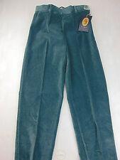NWT LA BAITA Pantalone XXS Bambina S Pants Verde Vintage 90 Ciniglia Chenille