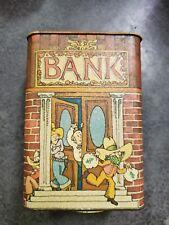 Vintage Hallmark Collectible Coin Bank Tin Can Piggy Bank Cowboy Bank Robbery