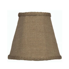 "Burlap Brown Candelabra Clip On Fabric Lamp Shade - 3"" x 5"" x 4 1/2"""