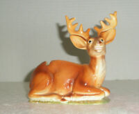 Vitnage Figural Ceramic Ashtray or Planter Anterled Deer Laying in Grass