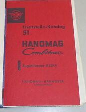 Teilekatalog / Ersatzteilliste Hanomag Combitrac Zugschlepper R 324 E von 5/1959