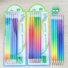 12pcs Pencil 2B Writing Drawing Exam Sketch Pen Sharpener School Office Supplies