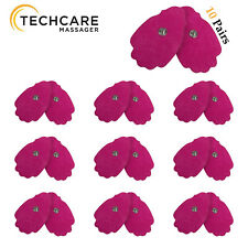 20 Large Pink Snap On Reusable Self-Adhesive Replacement Tens Unit Electrode Pad