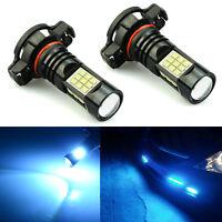 JDM ASTAR 2x 27-SMD 52015202 Ice Blue LED Car Running Fog Light Bulbs Lamps 12V