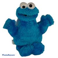 "💛 Sesame Street Cookie Monster plush Hasbro Playskool 9"" tag blue muppet 12+ E7"