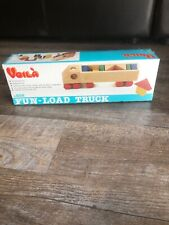 RARE Vintage Voila Wooden Toys Fun-Load Truck NEW