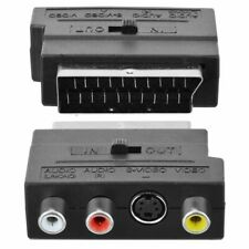 SCART RGB maschio a 3RCA Adattatore AV per donna TV DVD VCR CON SWITCH IN/OUT