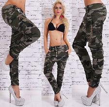 Sexy Nuevo Mujer Ejército Militar Camuflaje Vaqueros boyfriend Harén Baggy A 525