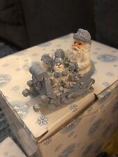 Encore Snow Buddies Santa in Sleigh Item 94290 approx 2.2� tall