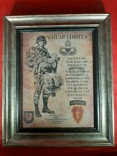 """Mc-Better: Army Airborne """"Cheap Thrills"""" 25th Id 4th Bct Framed Personalized"""