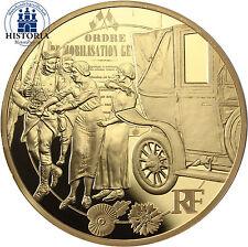 Frankreich 200 Euro 2014 Goldmünze 1 Oz I. Weltkrieg mit dem Taxi an die Front