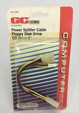"GC Electronics - Power Splitter Cable - Floppy Disk Drive / CD Drive - 6"" - NEW"