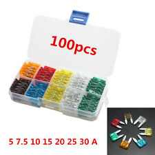 New Lot100 Assorted Car MIXED Small Size Low Profile  Blade Fuse Box More Sizes