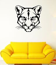 Wall Decal Animal Wild Cat Panther Puma Mustache Head Vinyl Decal (ed314)