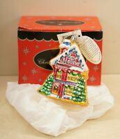 Radko New Home / House Blown Glass Christmas Ornament Original Box + Tags
