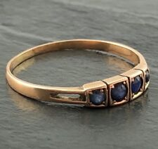 RING: Saphire in Gold Rotgold 585 14K gefasst