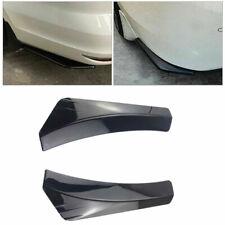2pcs Black Car Rear Bumper Splitters Diffuser Canard Protector Universal Kit