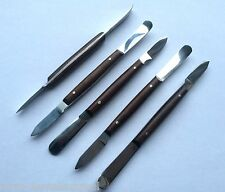 5 X FAHEN WAX KNIVES 13CM SMALL MIXING SPATULA DENTAL LAB STAINLESS STEEL CE