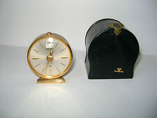 VINTAGE  JAEGER 8 DAY RECITAL ALARM CLOCK W/CASE IN GOOD WORKING ORDER