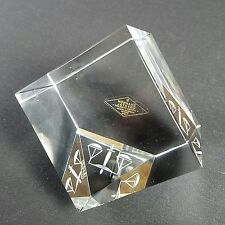 "Shannon Crystal Godinger Scales of Justice 3"" size cube"