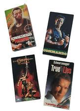 Lot of 4 VHS Tapes Arnold Schwarzenegger Commando Predator Conan True Lies