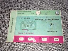 1977 ARGENTINA (PRE WORLD CUP TOURNAMENT) ARGENTINA V WEST GERMANY MATCH TICKET