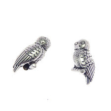 Lot of 30 Vintage Silver Metal Alloy Owl Craft Beads Charm Pendant Findings DIY