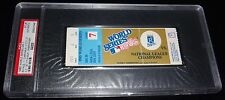 1985 WORLD SERIES GAME 7 TICKET KANSAS CITY ROYALS 1ST WS TITLE CLINCHER!! PSA