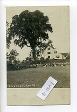 Lynnfield Centre MA Mass RPPC real photo saltbox style home, stone wall, early