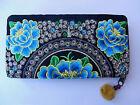 Hmong Hilltribe Ladies Zip Wallet Handmade Flower Design from Thailand