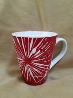 Starbucks 2014 Red White Starburst Fireworks Abstract Coffee Mug Cup 12 oz