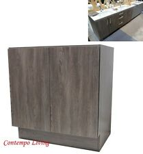 "36"" European Style Bathroom Vanity Double Door Cabinet Base Grey Cotton Pattern"