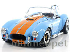 COLLECTIBLES 129 1965 SHELBY COBRA 427 S/C 1/18 BABY BLUE with ORANGE STRIPES