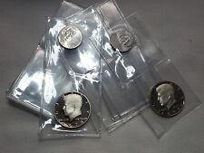 25 Vinyl Double Pocket Coin Flips PVC Archival FREE SHIPPING Money Holder