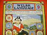 VINTAGE AUTHENTIC WELSH LANGUAGE RED BLUE COTTON KITCHEN TEA TOWEL