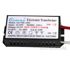 Electronic Transformer for Halogen Light Lamp AC 12V 250W Power Supply Driver