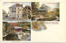 """Baden-Baden - Lichtenthal, Hotel """"Zum Löwen"""", 1907"""