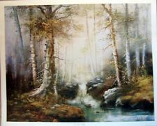 art print~IN THE MIDST~William Henry Chandler seascape rocks waves vtg rep 32x15