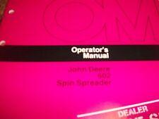 John Deere Operator'S Manual 602 Spin Spreader Issue G4
