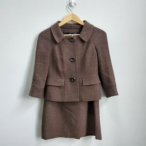 Ann Taylor Tweed Skirt Suit