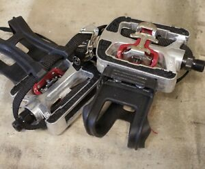 """JD-304 SPD clipless compatible and PLATFORM exercise SPINNING Bike 9/16"""" PEDALS"""