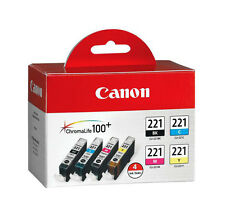 Genuine Canon CLI221 4PK ink 221 iP4600 iP4700 iP3600 MP620B MP560 MP980 MX860