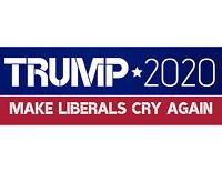 Donald Trump Bumper Sticker 2020 Make Liberals Cry Again